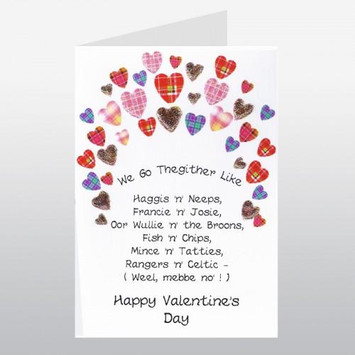 Scottish Valentine Card Go Thegither Poem WWVA02 – Valentine Card Poem