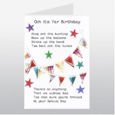 Scottish Birthday Card Bunting WWBI38