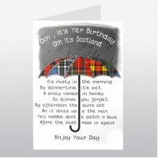 Scottish Birthday Card Umbrella WWBI73