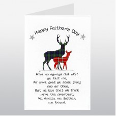 Scottish Father's Day Card Stag WWFD02