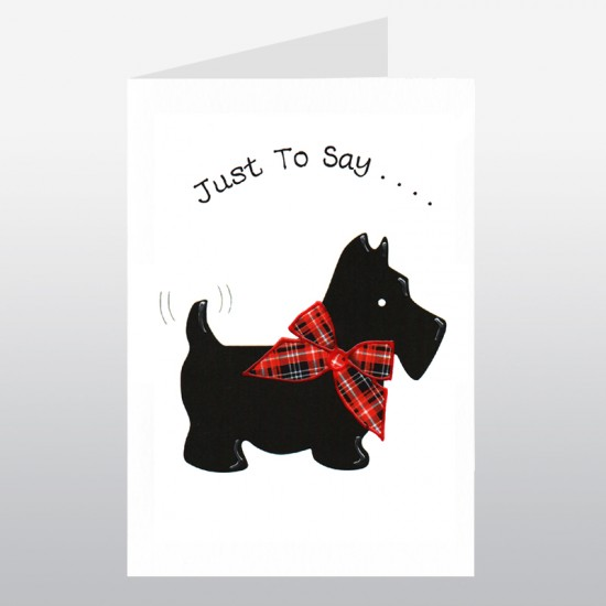 Scottish Greetings Card Large Scotty Jist to Say WWGR06