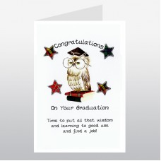 Scottish Graduation Card Owl WWGD06
