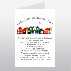 New Home Row of Houses Card WWNH04