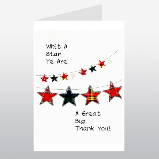Scottish Thank You Card Star WWTY02