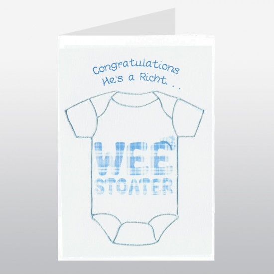 Baby Card Wee Stoater Blue WWBA26