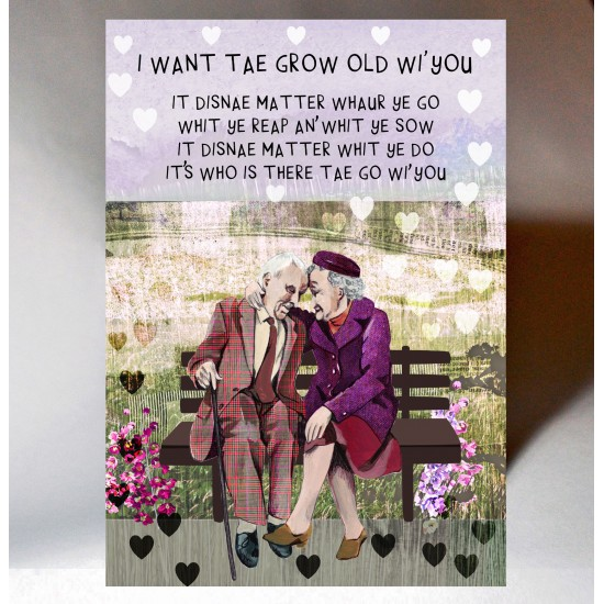 Lovey Dovey Grow Old Wi' You Card WWLD13